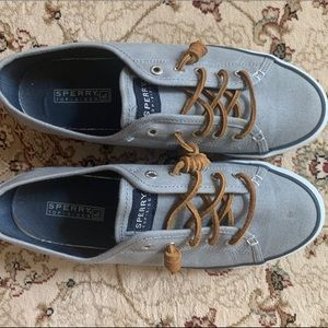 Gray Sperry Canvas Sneaker